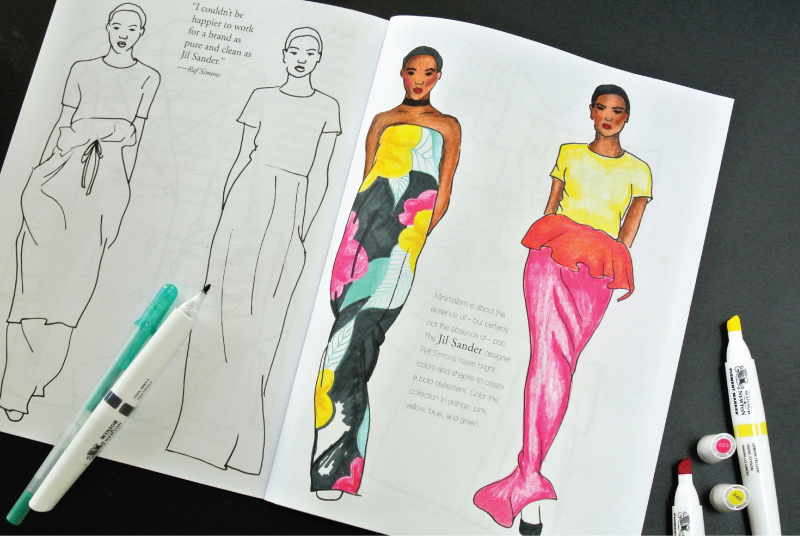 mochiliving_morestyle_coloringtherapy_thebestfashioncoloringbooksforadults_jilsander