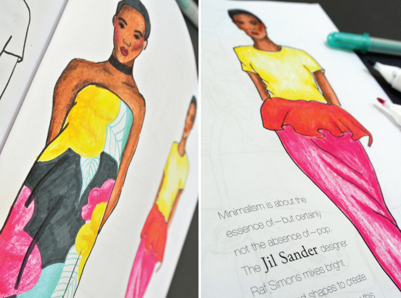 Mochiliving Morestyle Coloringtherapy Thebestfashioncoloringbooksforadults Jilsander Closeup
