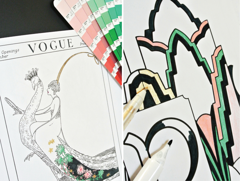 Mochiliving Morestyle Coloringtherapy Thebestfashioncoloringbooksforadults Vogue Peacock Georgewolfeplank